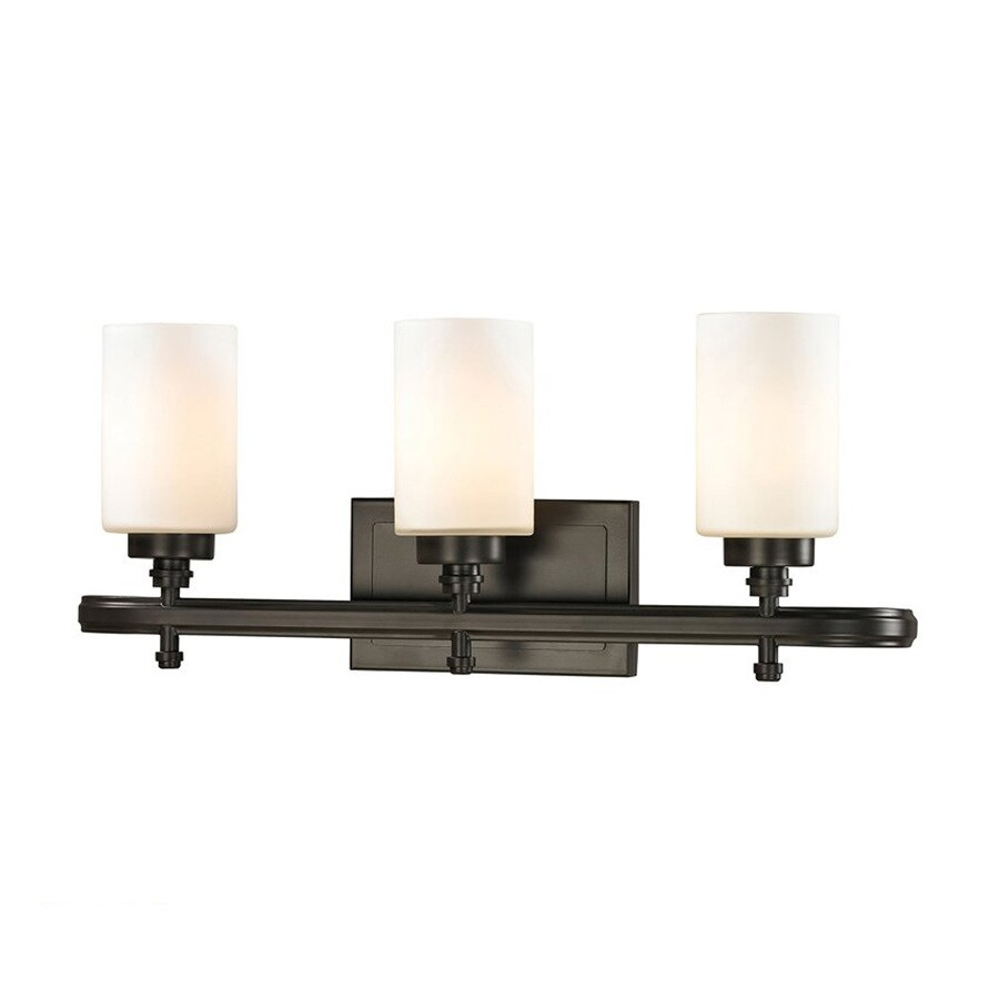 Westmore Lighting Balfour 3-Light 10-in Oil Rubbed Bronze Cylinder LED Vanity Light