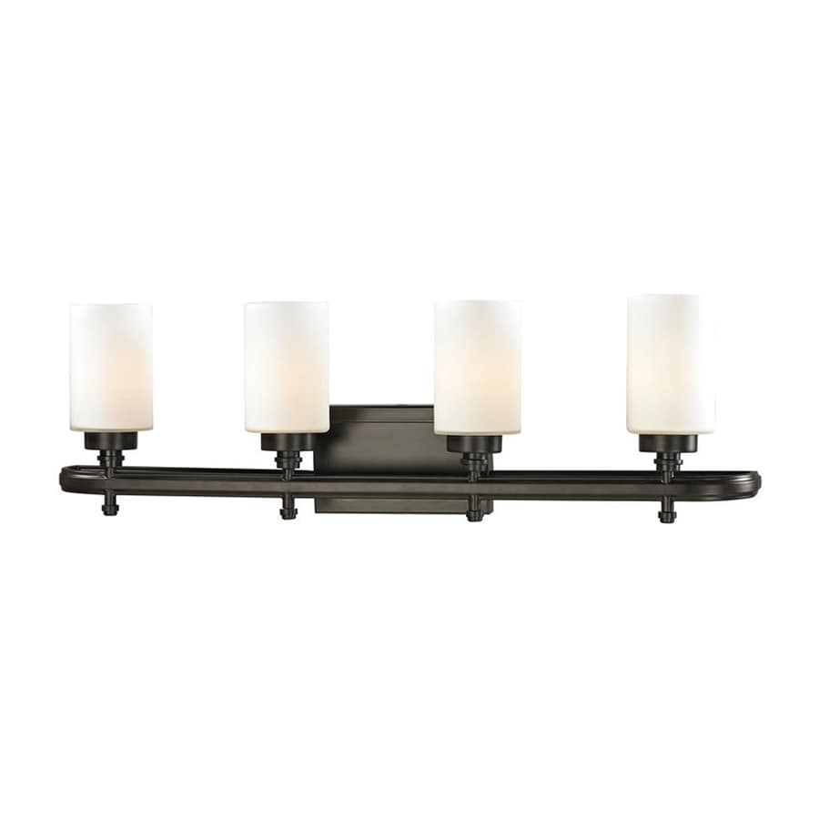 Westmore Lighting Balfour 4-Light 10-in Oil Rubbed Bronze Cylinder LED Vanity Light