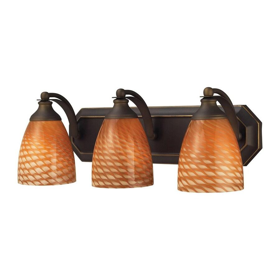 Westmore Lighting Homestead 3-Light 7-in Aged Bronze Bell LED Vanity Light