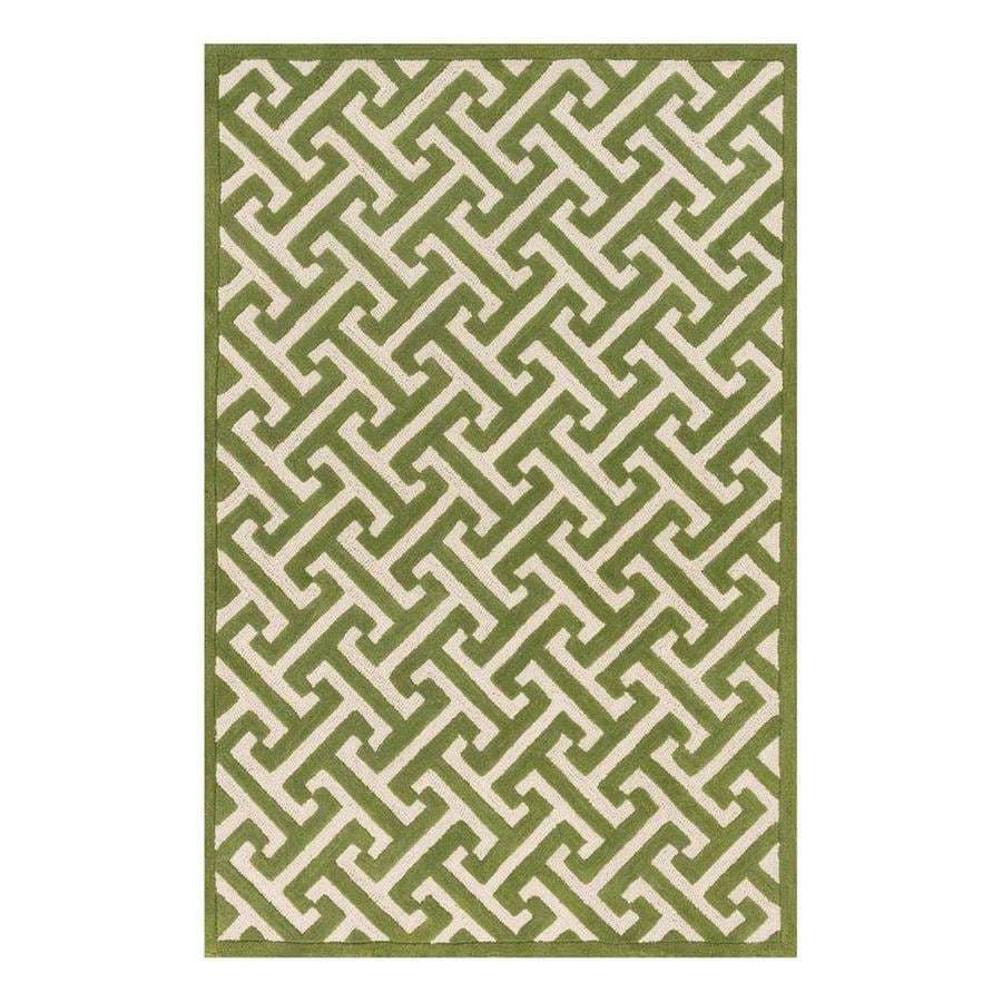Loloi Brighton Lawn Rectangular Indoor Handcrafted Area Rug (Common: 3 x 5; Actual: 3.5-ft W x 5.5-ft L)