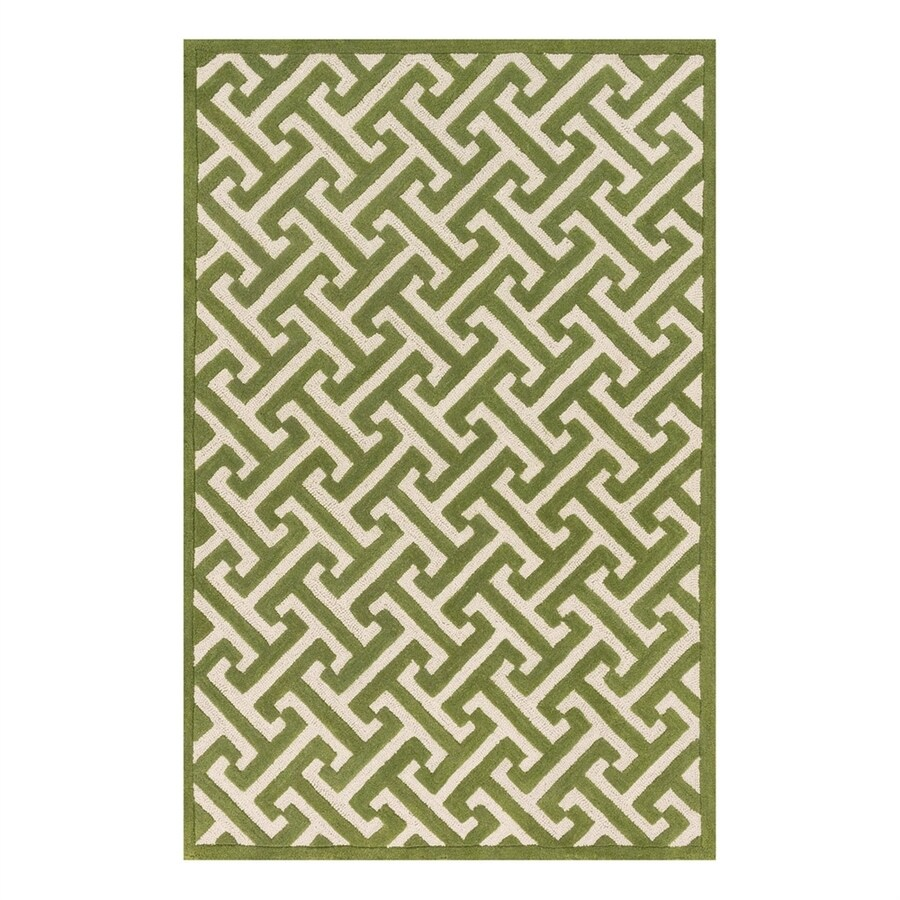 Loloi Brighton Lawn Rectangular Indoor Handcrafted Area Rug (Common: 5 x 7; Actual: 5-ft W x 7.5-ft L)