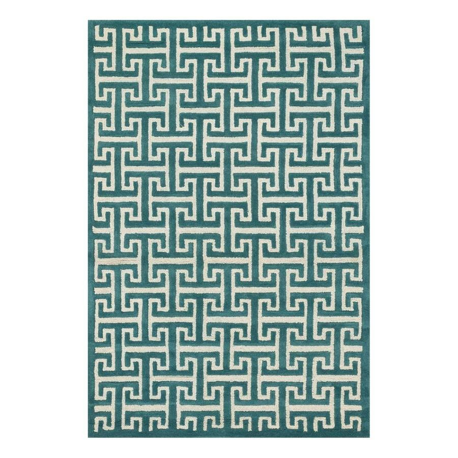 Loloi Brighton Teal Rectangular Indoor Handcrafted Area Rug (Common: 3 x 5; Actual: 3.5-ft W x 5.5-ft L)