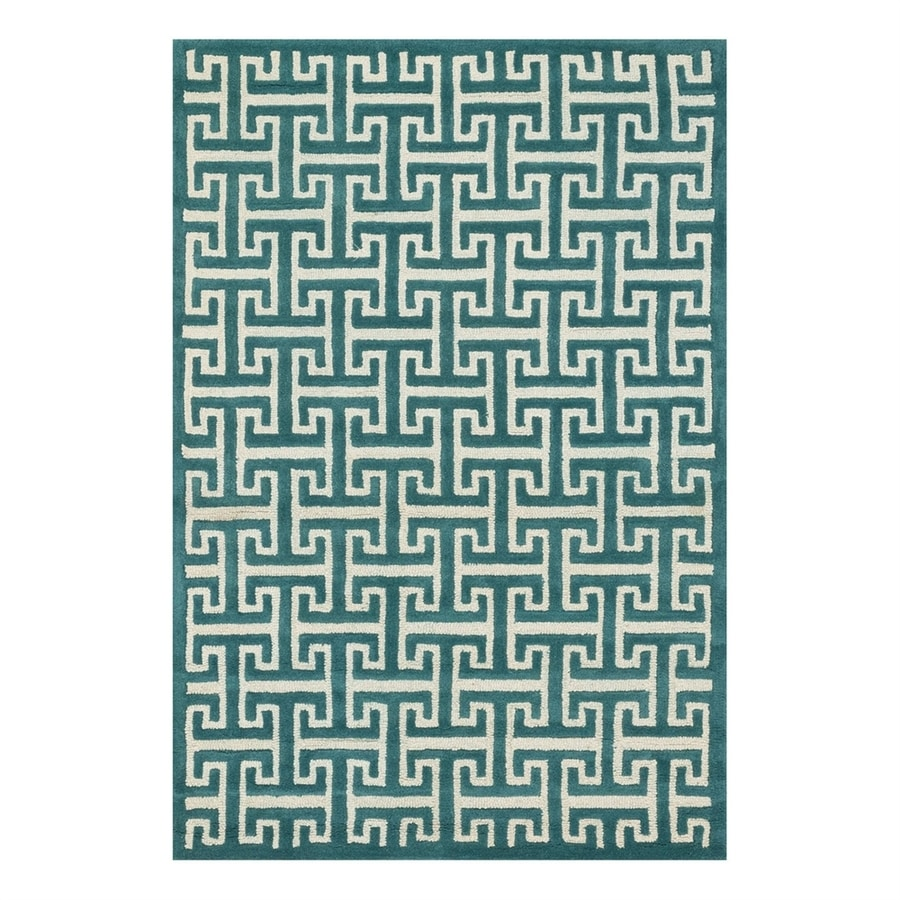 Loloi Brighton Teal Rectangular Indoor Handcrafted Area Rug (Common: 5 x 7; Actual: 5-ft W x 7.5-ft L)