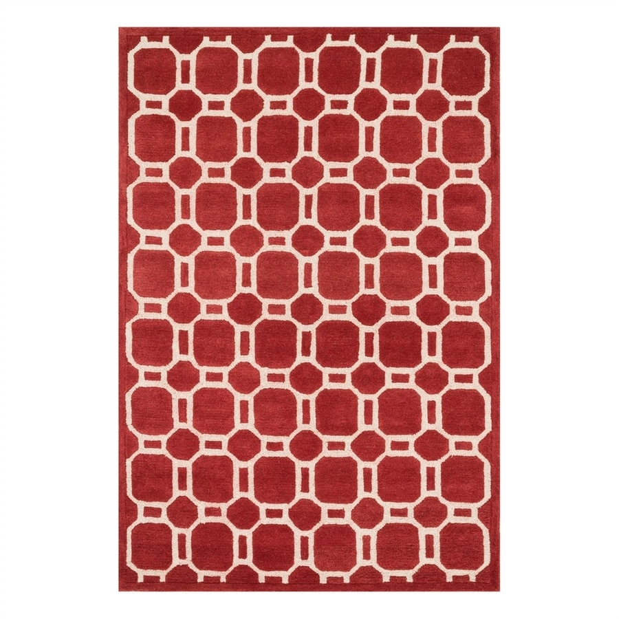 Loloi Brighton Red Rectangular Indoor Handcrafted Area Rug (Common: 5 x 7; Actual: 5-ft W x 7.5-ft L)