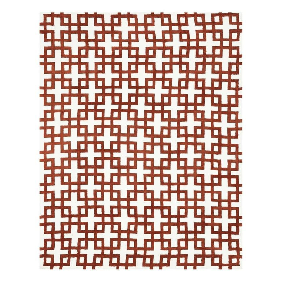 Loloi Charlotte Ivory/Rust Rectangular Indoor Machine-Made Area Rug (Common: 3 x 5; Actual: 3.5-ft W x 5.5-ft L)