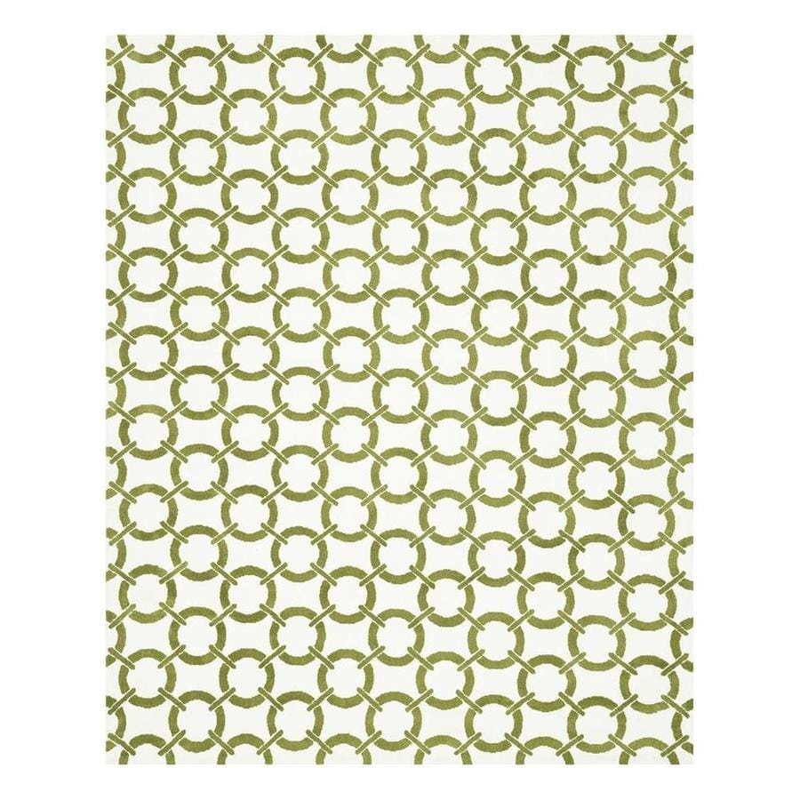 Loloi Charlotte Ivory/Peridot Rectangular Indoor Machine-Made Area Rug (Common: 7 x 9; Actual: 7.5-ft W x 9.5-ft L)