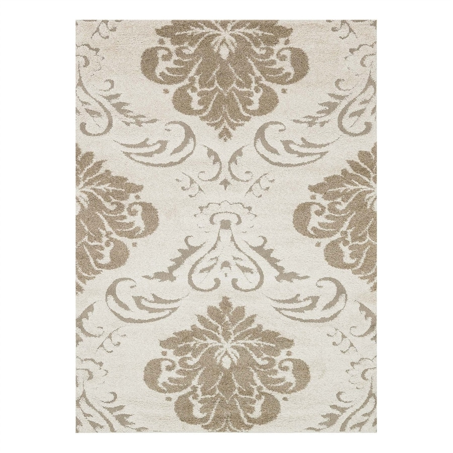 Loloi Enchant Ivory/Beige Rectangular Indoor Machine-Made Area Rug (Common: 3 x 5; Actual: 3.83-ft W x 5.58-ft L)