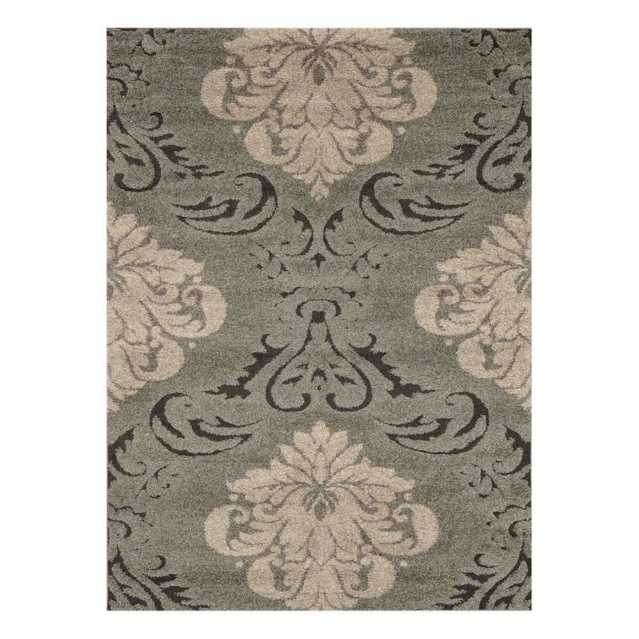 Loloi Enchant Smoke/Beige Square Indoor Machine-Made Area Rug (Common: 7 x 7; Actual: 7.58-ft W x 7.58-ft L)