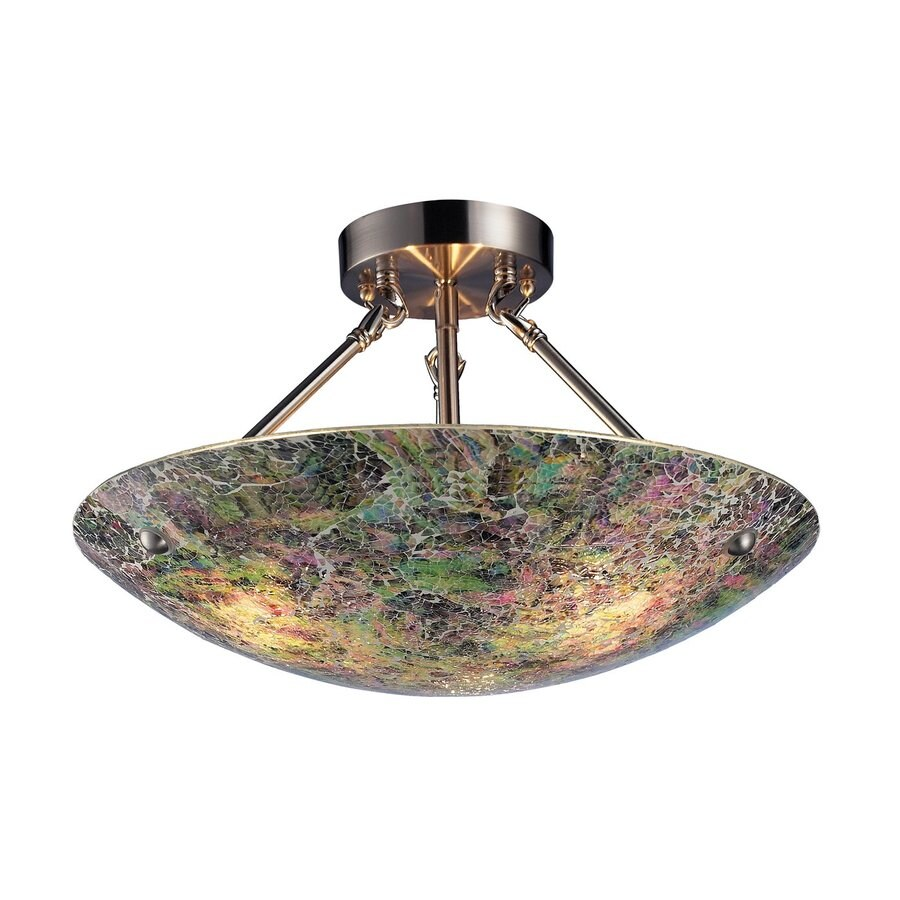 Westmore Lighting Avalon 16-in W Multicolor Semi-Flush Mount Light