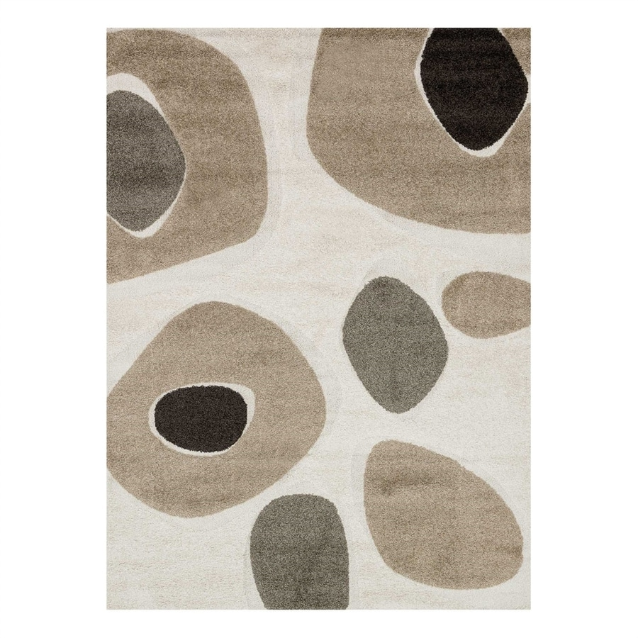 Loloi Enchant Ivory/Multi Rectangular Indoor Machine-Made Area Rug (Common: 5 x 7; Actual: 5.25-ft W x 7.58-ft L)