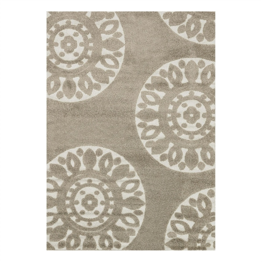 Loloi Enchant Beige Square Indoor Machine-Made Area Rug (Common: 7 x 7; Actual: 7.58-ft W x 7.58-ft L)