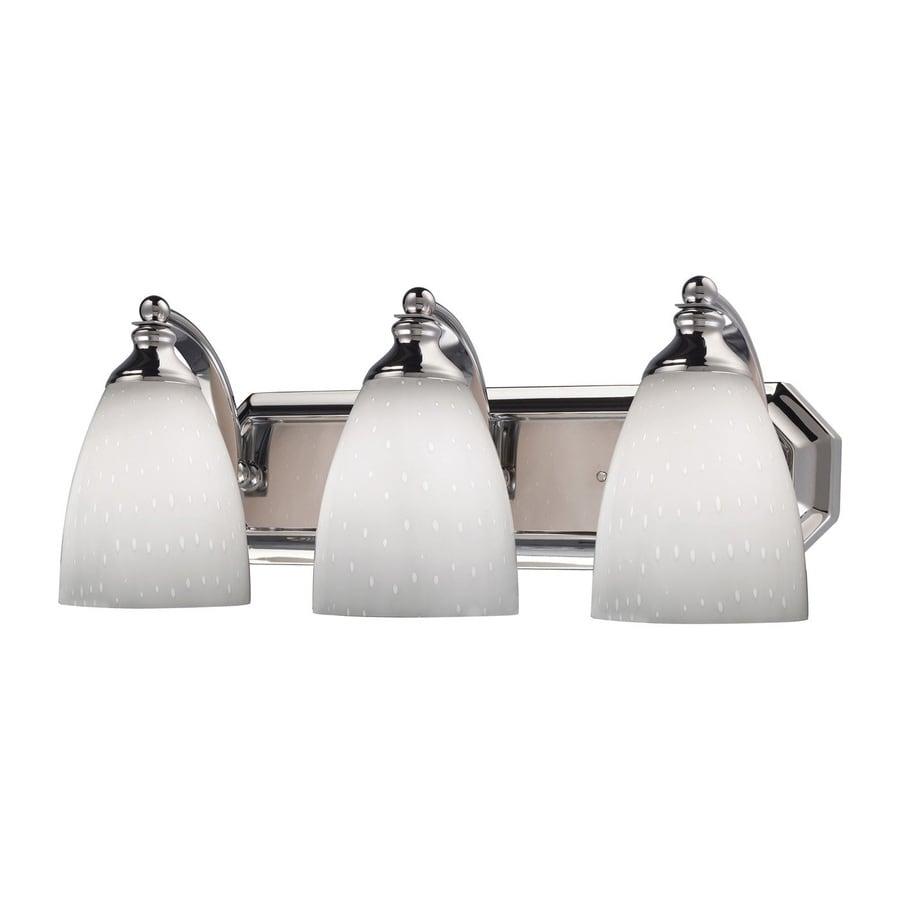 Westmore Lighting Homestead 3-Light 7-in Polished Chrome Bell LED Vanity Light