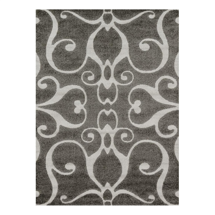 Loloi Enchant Smoke Rectangular Indoor Machine-Made Area Rug (Common: 3 x 5; Actual: 3.83-ft W x 5.58-ft L)