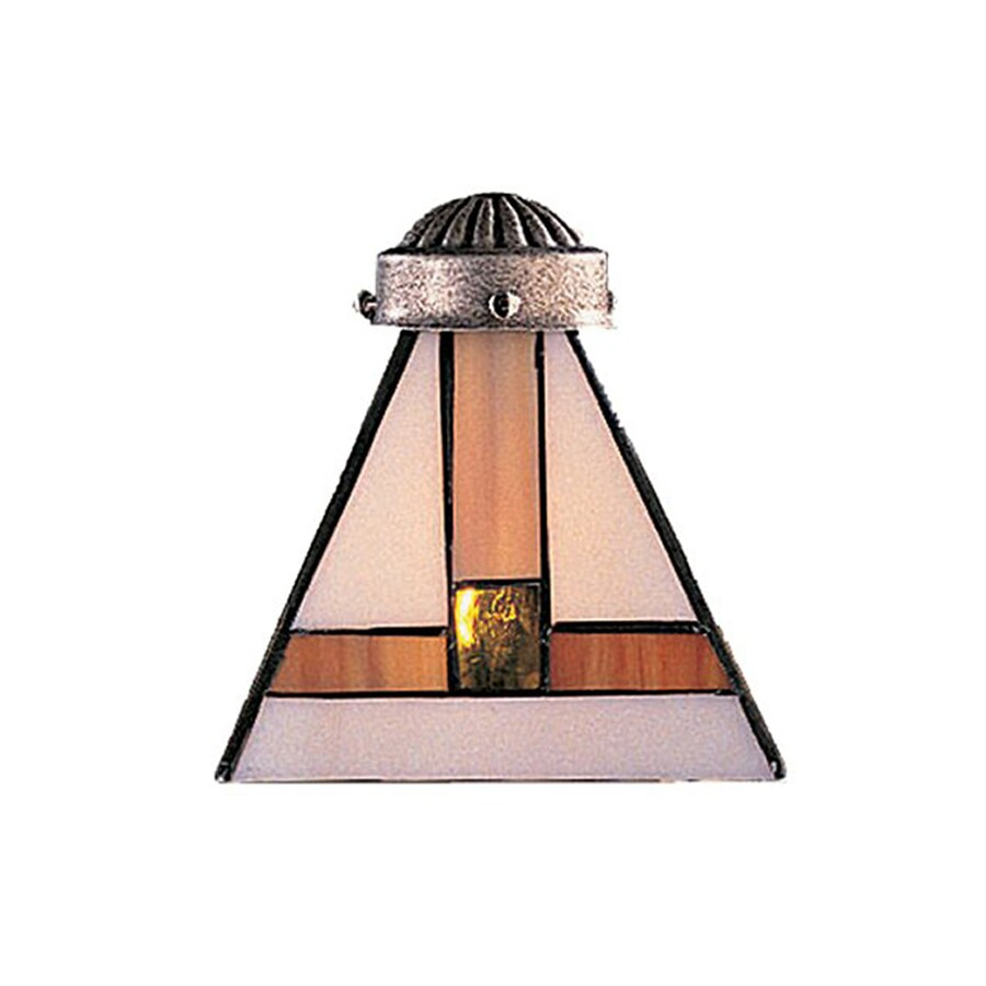 Westmore Lighting Mix-N Match 6-in H 5-in W Tiffany Style Stained Glass Tiffany-style Cone Ceiling Fan Light Shade