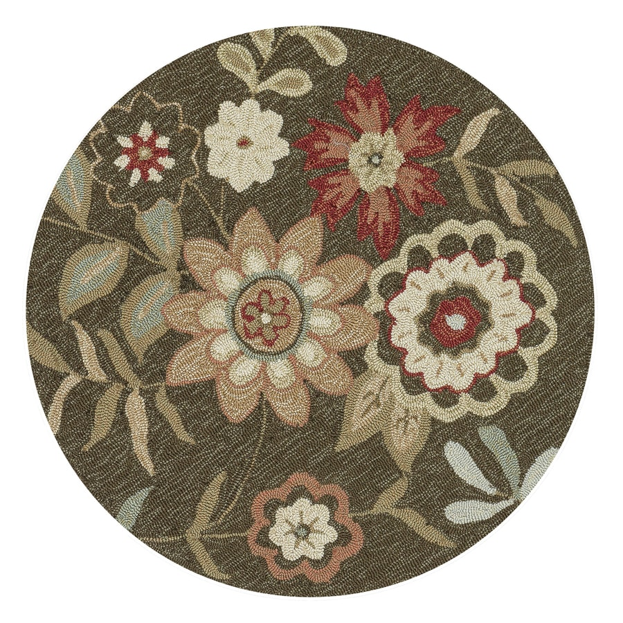 Loloi Francesca Brown Round Indoor Handcrafted Area Rug (3-ft Dia)