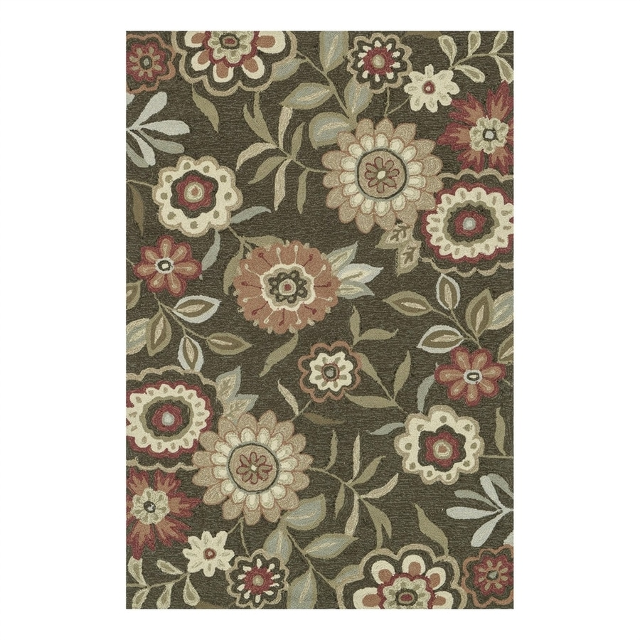 Loloi Francesca Brown Rectangular Indoor Handcrafted Area Rug (Common: 7 x 9; Actual: 7.5-ft W x 9.5-ft L)