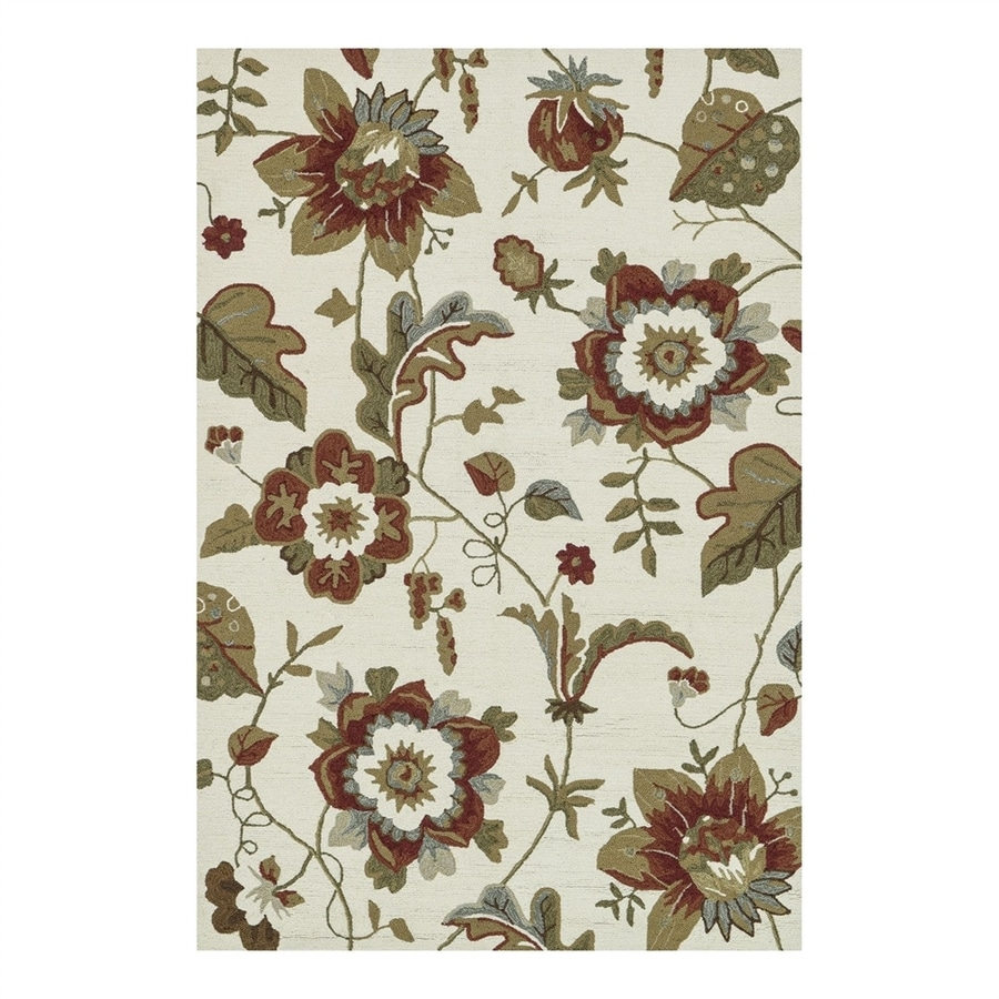 Loloi Francesca Ivory Rectangular Indoor Handcrafted Area Rug (Common: 3 x 5; Actual: 3.5-ft W x 5.5-ft L)