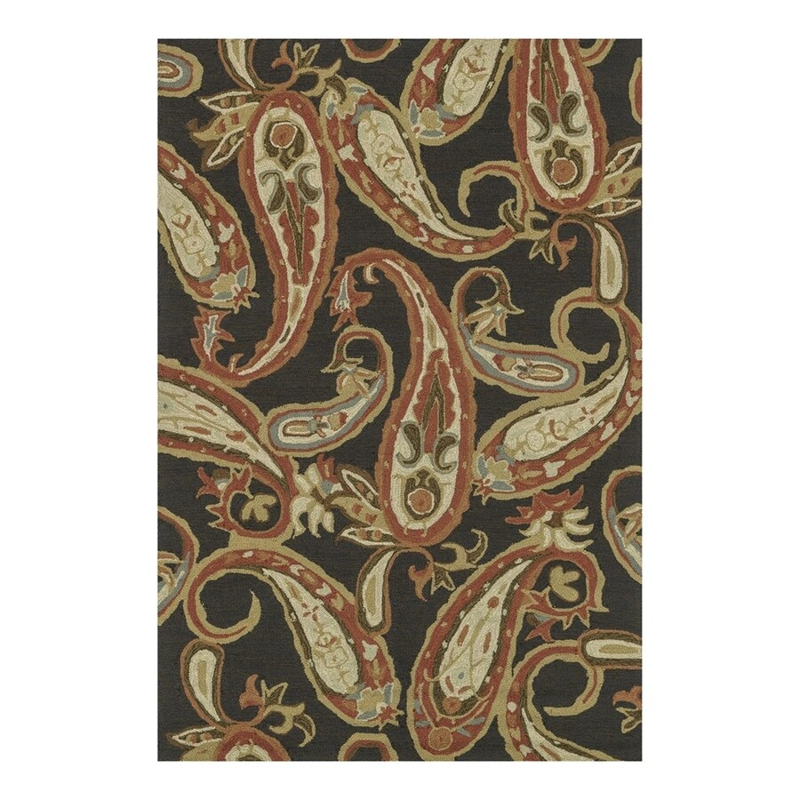 Loloi Francesca Charcoal Rectangular Indoor Handcrafted Area Rug (Common: 2 x 3; Actual: 2.25-ft W x 3.75-ft L)