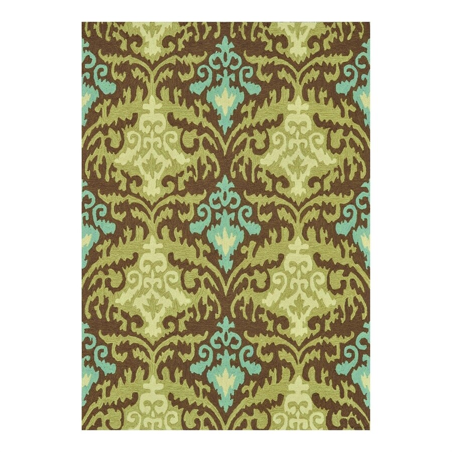 Loloi Francesca Brown/Green Rectangular Indoor Handcrafted Area Rug (Common: 3 x 5; Actual: 3.5-ft W x 5.5-ft L)