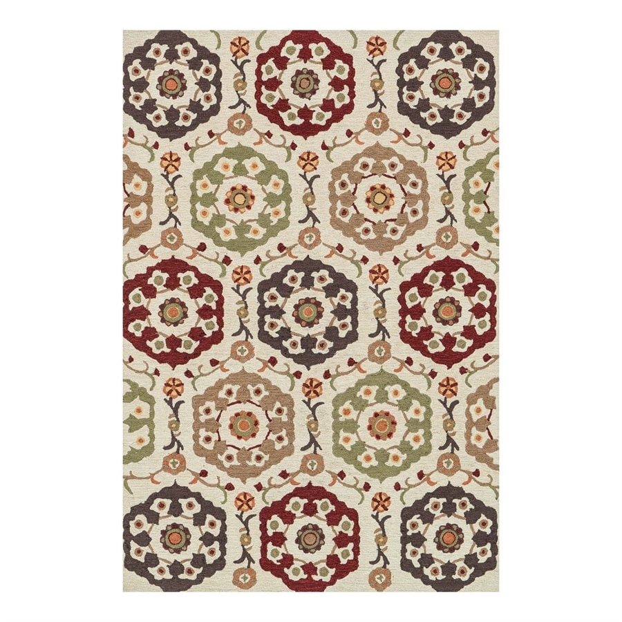 Loloi Francesca Beige/Multicolor Rectangular Indoor Handcrafted Area Rug (Common: 2 x 3; Actual: 2.25-ft W x 3.75-ft L)