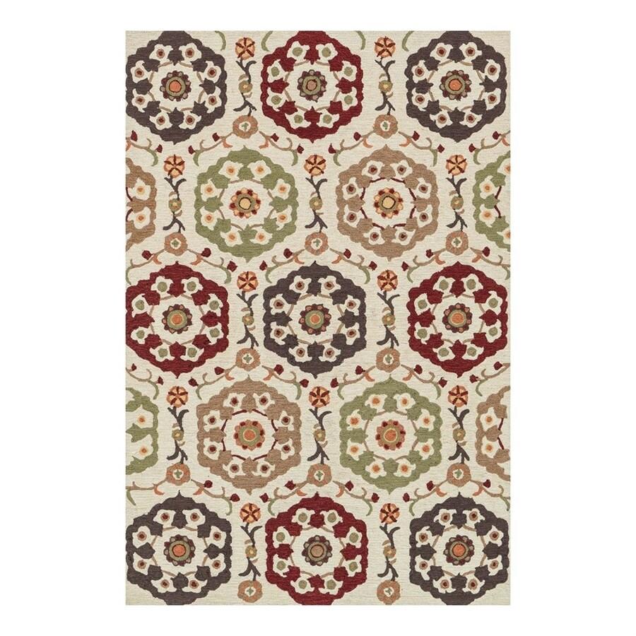 Loloi Francesca Beige/Multicolor Rectangular Indoor Handcrafted Area Rug (Common: 3 x 5; Actual: 3.5-ft W x 5.5-ft L)
