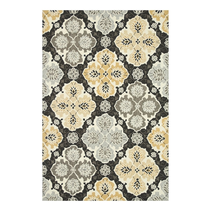 Loloi Francesca Charcoal/Multicolor Rectangular Indoor Handcrafted Area Rug (Common: 7 x 9; Actual: 7.5-ft W x 9.5-ft L)