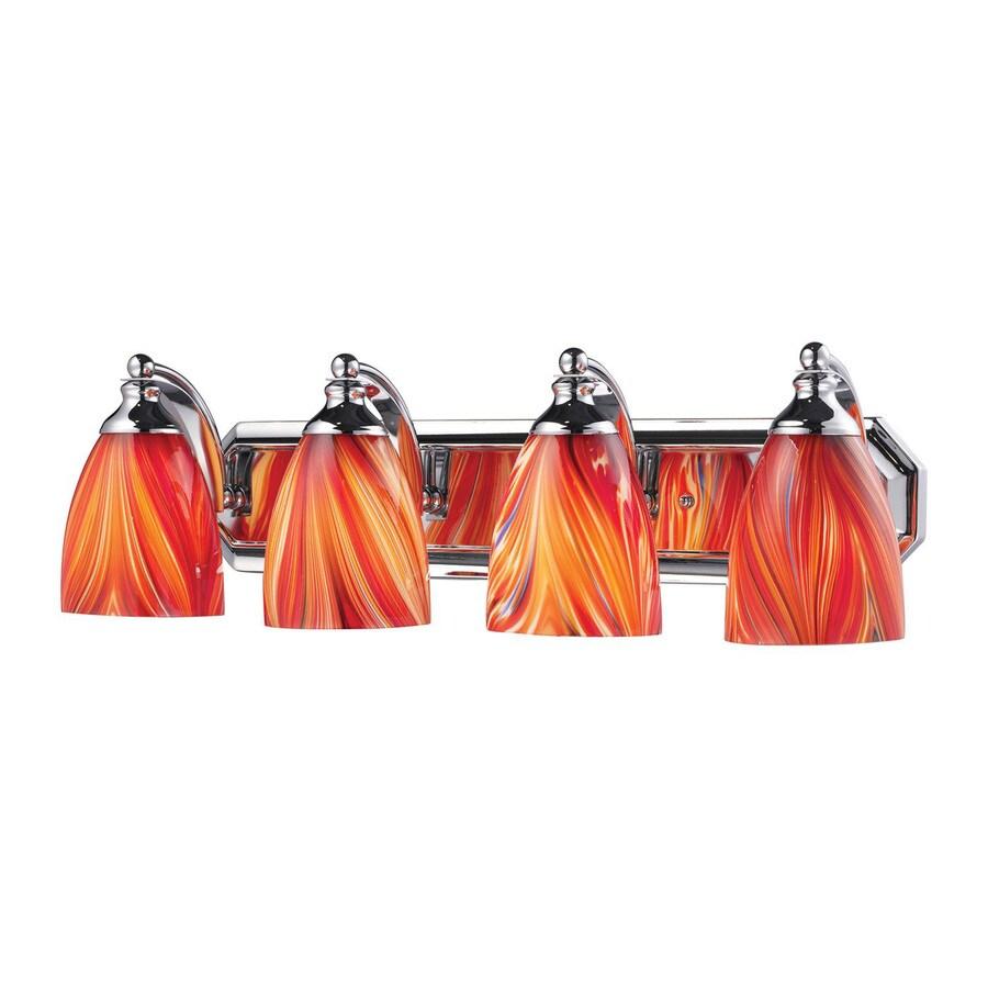 Westmore Lighting Homestead 4-Light 7-in Polished Chrome Bell LED Vanity Light