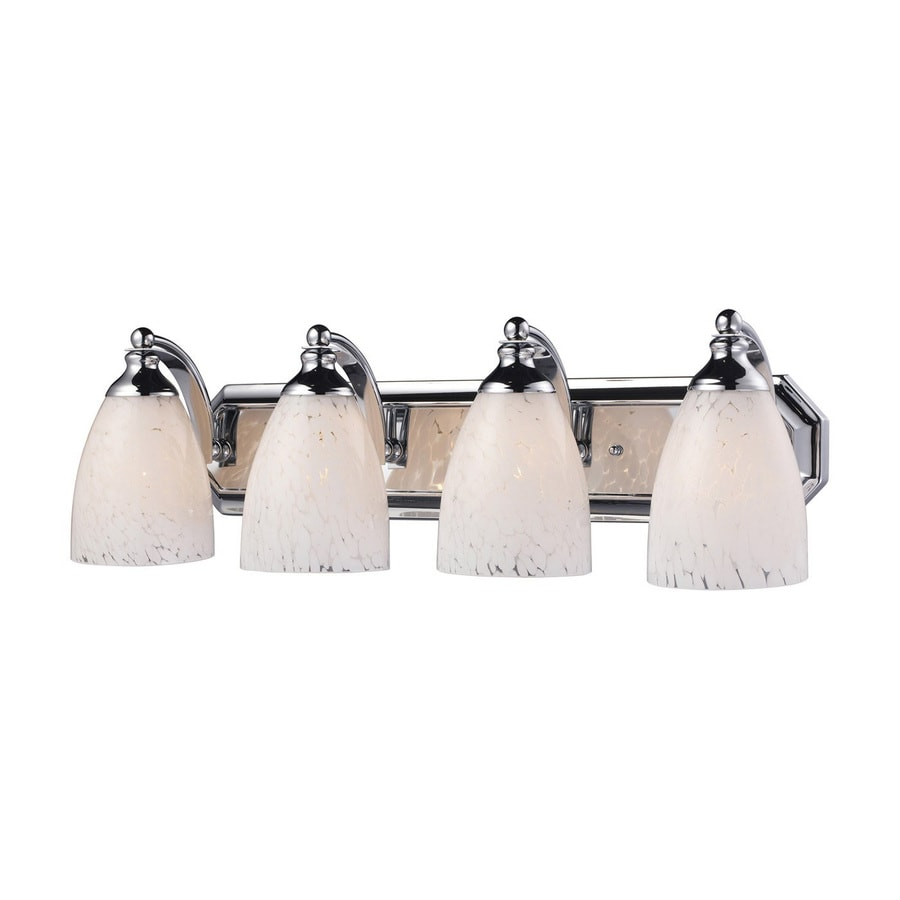 Westmore Lighting Homestead 4-Light 7-in Polished Chrome Bell LED Vanity Light