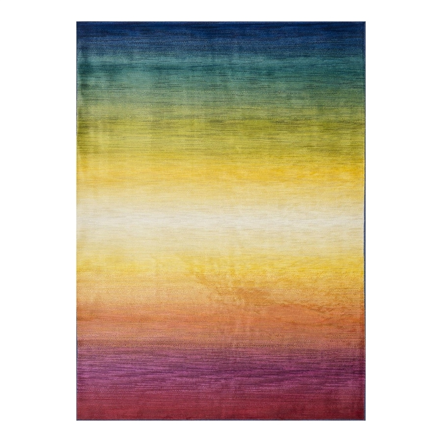 Loloi Lyon Rainbow Rectangular Indoor Machine-Made Area Rug (Common: 7 x 10; Actual: 7.58-ft W x 10.41-ft L)