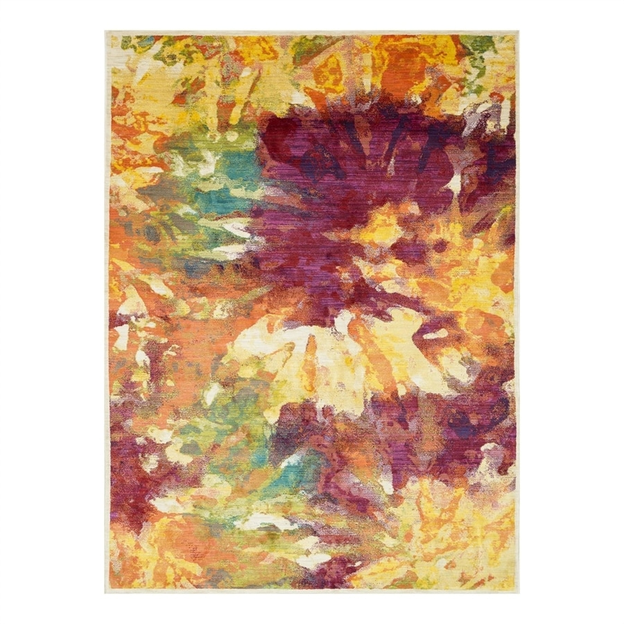 Loloi Madeline Flame Rectangular Indoor Machine-Made Area Rug (Common: 5 x 7; Actual: 5.16-ft W x 7.58-ft L)
