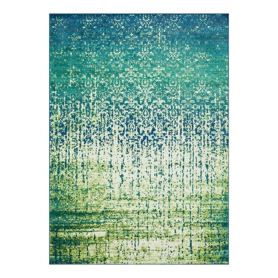 Loloi Madeline Blue Cascade Rectangular Indoor Machine-Made Area Rug (Common: 3 x 5; Actual: 3.75-ft W x 5.16-ft L)