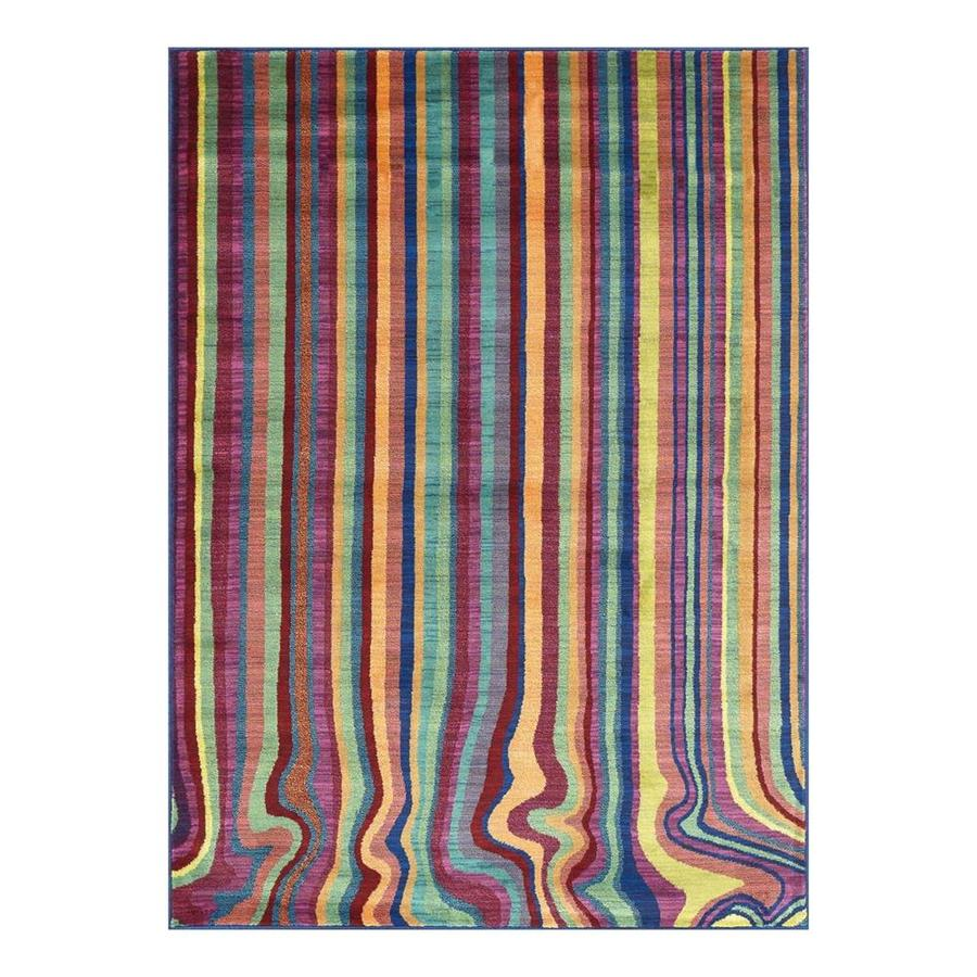 Loloi Madeline Multicolor Stripe Rectangular Indoor Machine-Made Area Rug (Common: 5 x 7; Actual: 5.16-ft W x 7.58-ft L)