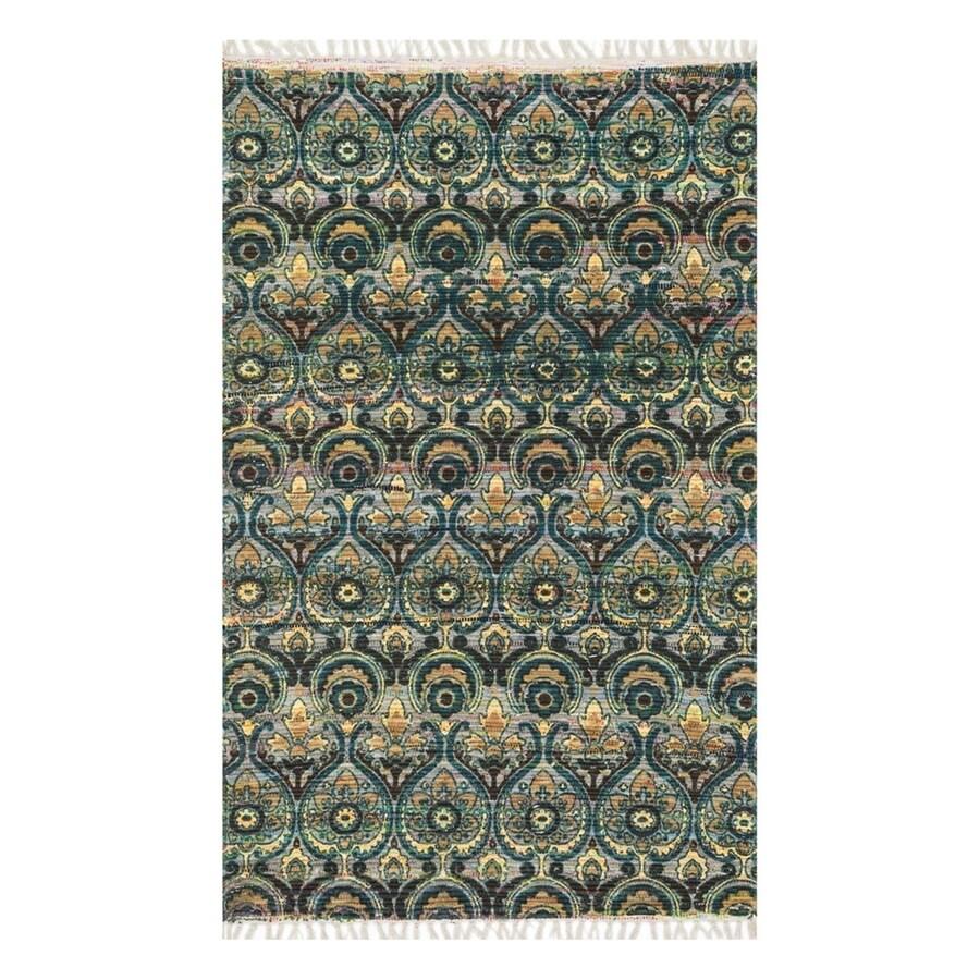Loloi Aria Grey/Blue Rectangular Indoor Area Rug (Common: 2 x 3; Actual: 1.66-ft W x 3-ft L)