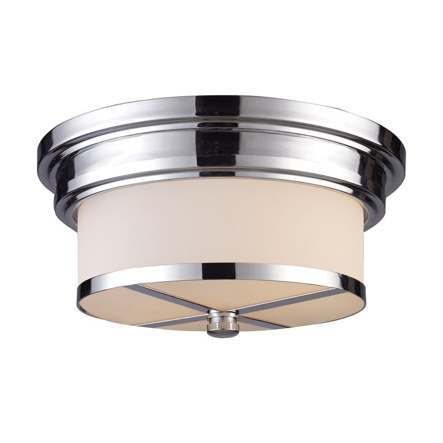 Westmore Lighting 13-in W Polished Chrome Frosted Glass Semi-Flush Mount Light