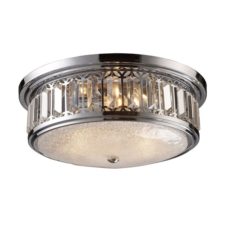Westmore Lighting 16-in W Polished Chrome Crystal Semi-Flush Mount Light
