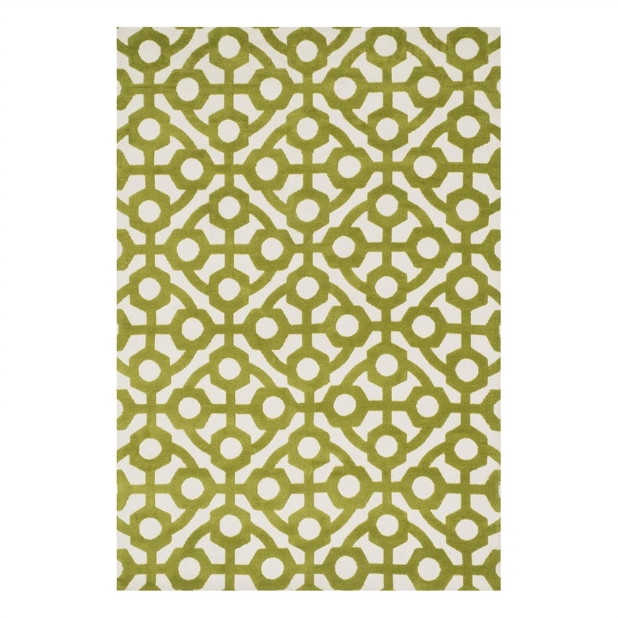 Loloi Cassidy Green Rectangular Indoor Machine-Made Area Rug (Common: 3 x 5; Actual: 3.5-ft W x 5.5-ft L)