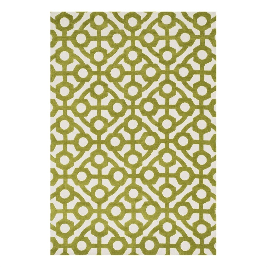 Loloi Cassidy Green Rectangular Indoor Machine-Made Area Rug (Common: 9 x 13; Actual: 9.25-ft W x 13-ft L)