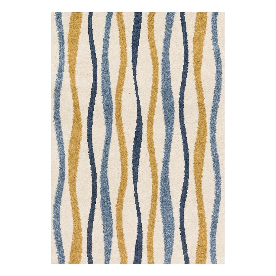 Loloi Enchant Ivory/Multicolor Rectangular Indoor Machine-Made Area Rug (Common: 5 x 7; Actual: 5.25-ft W x 7.58-ft L)