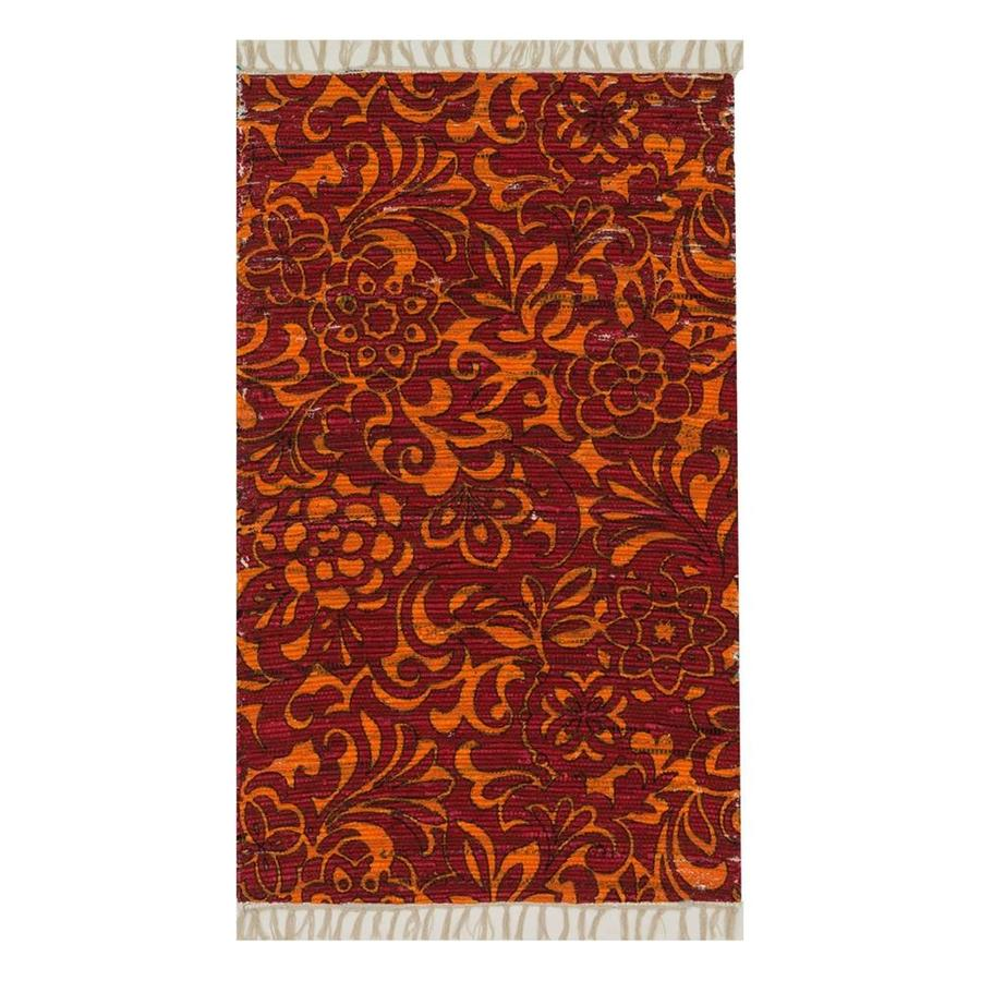 Loloi Aria Red/Orange Rectangular Indoor Handcrafted Throw Rug (Common: 2 x 3; Actual: 1.667-ft W x 3-ft L)