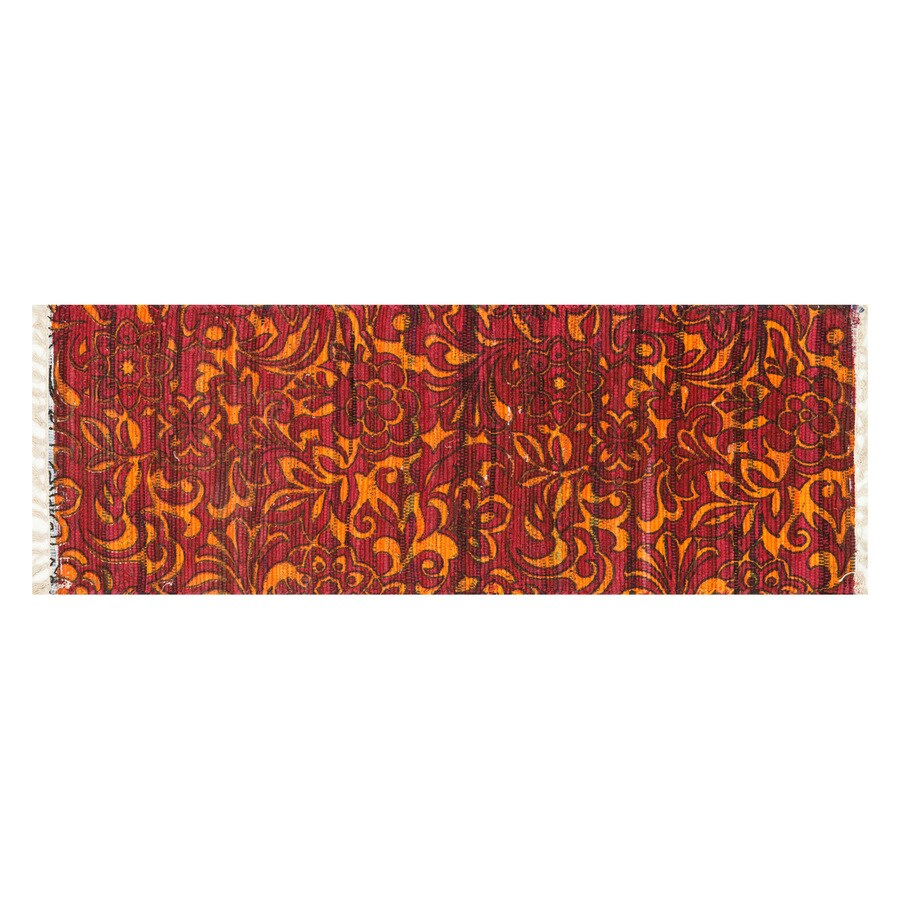 Loloi Aria Red/Orange Rectangular Indoor Handcrafted Runner (Common: 2 x 5; Actual: 1.75-ft W x 5-ft L)