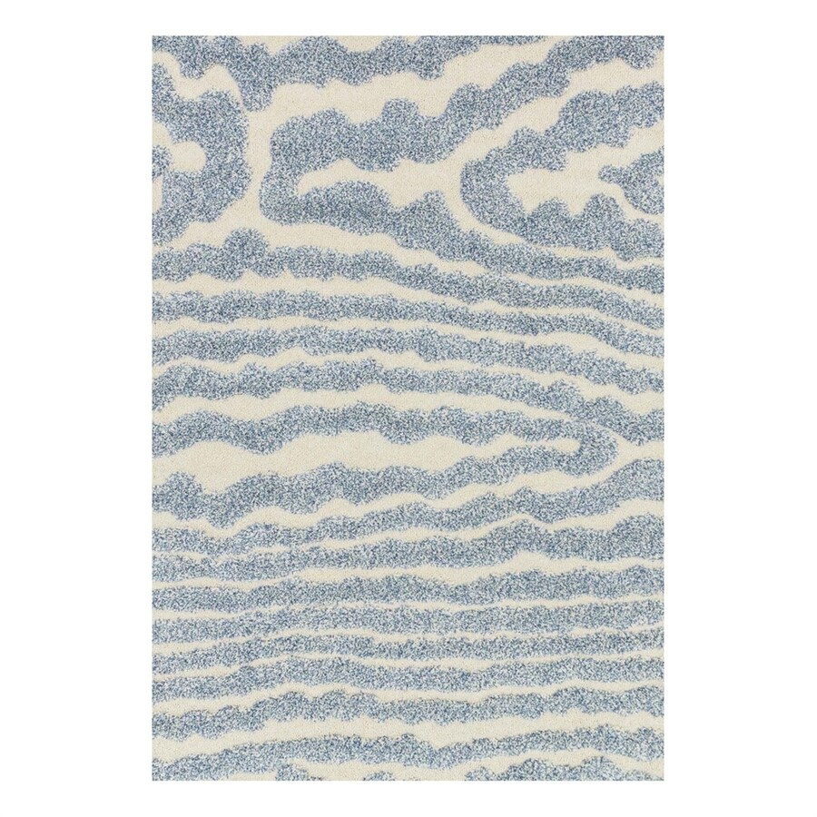 Loloi Enchant Ivory/Light Blue Rectangular Indoor Machine-Made Area Rug (Common: 3 x 5; Actual: 3.83-ft W x 5.58-ft L)