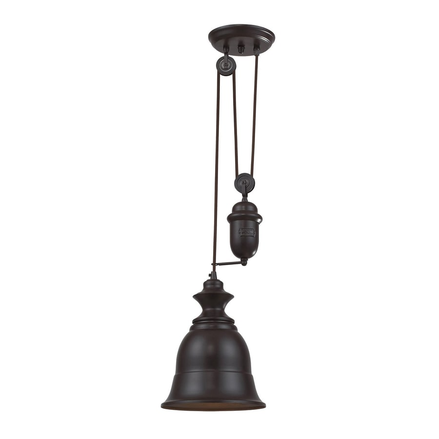 Westmore Lighting Crossens 8-in Oiled Bronze Barn Mini Bell LED Pendant