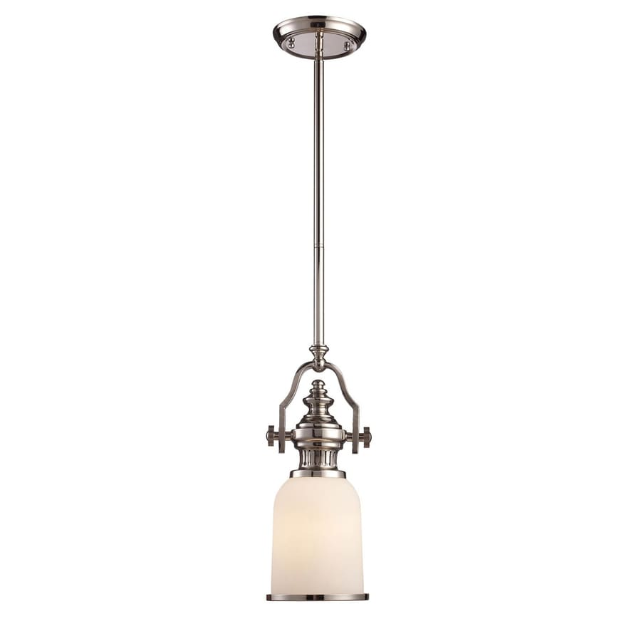Westmore Lighting Chadwick 6-in Polished Nickel Country Cottage Mini Bell LED Pendant