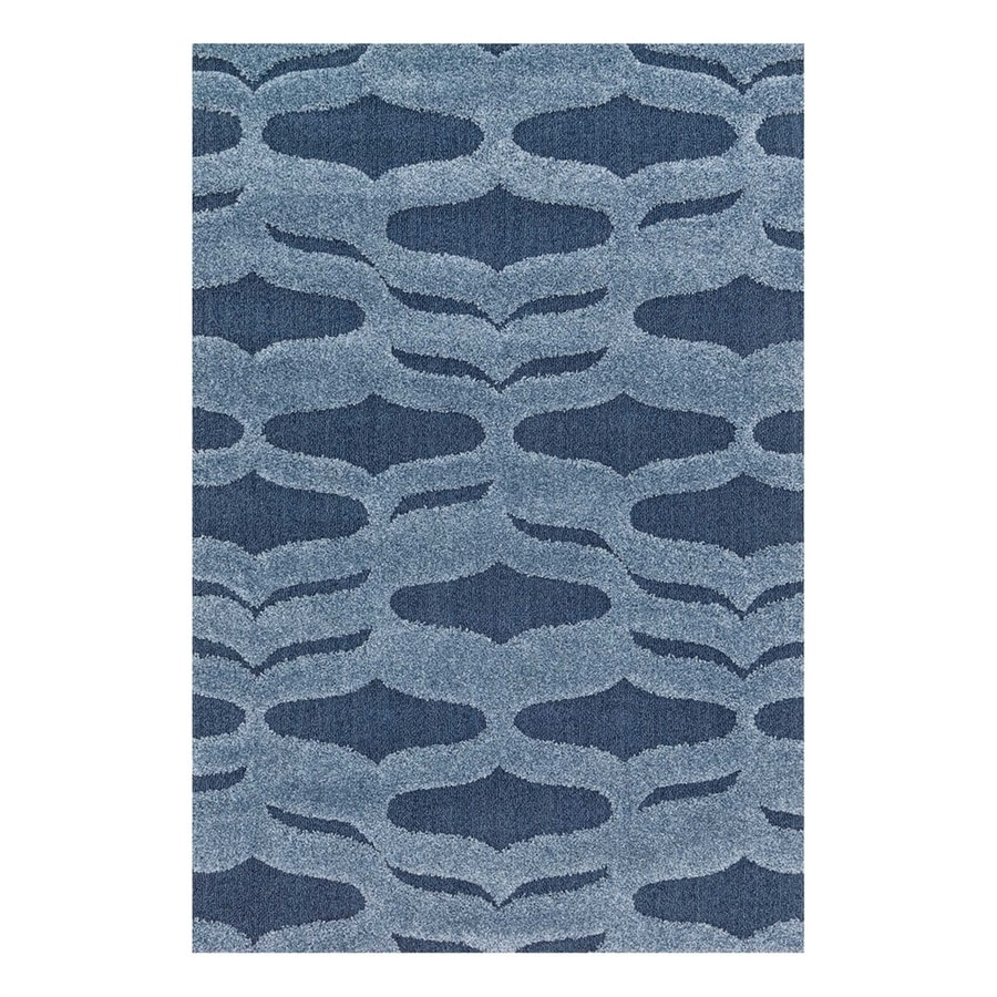 Loloi Enchant Blue Square Indoor Machine-Made Area Rug (Common: 7 x 7; Actual: 7.58-ft W x 7.58-ft L)