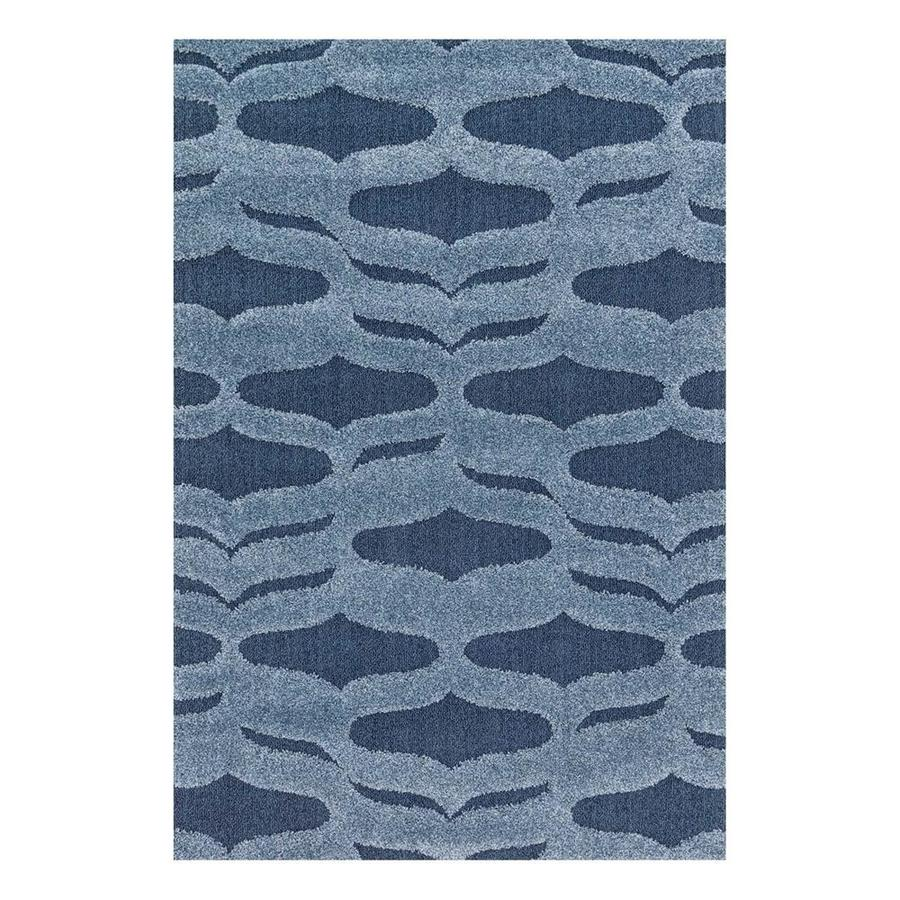 Loloi Enchant Blue Rectangular Indoor Machine-Made Area Rug (Common: 7 x 10; Actual: 7.58-ft W x 10.5-ft L)