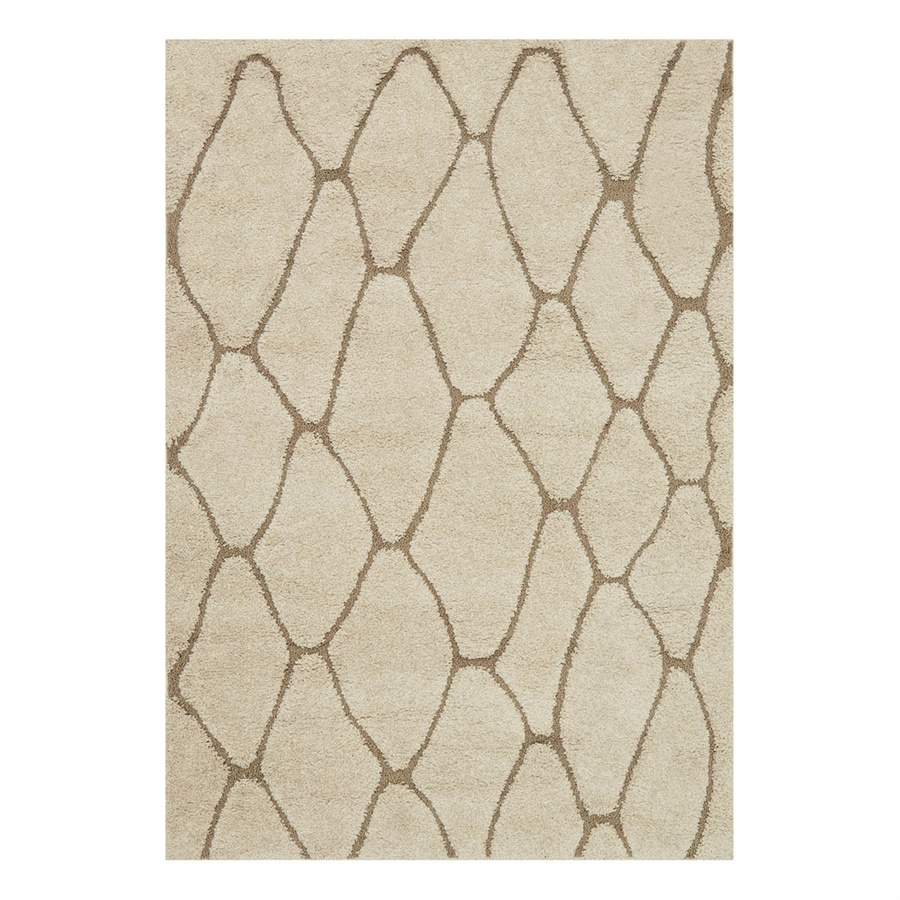 Loloi Enchant Ivory/Beige Rectangular Indoor Machine-Made Throw Rug (Common: 2 x 3; Actual: 2.25-ft W x 3.75-ft L)