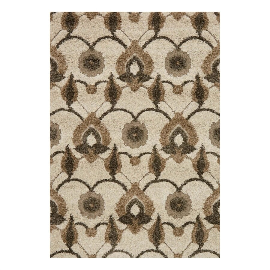 Loloi Enchant Ivory/Beige Rectangular Indoor Machine-Made Area Rug (Common: 5 x 7; Actual: 5.25-ft W x 7.58-ft L)
