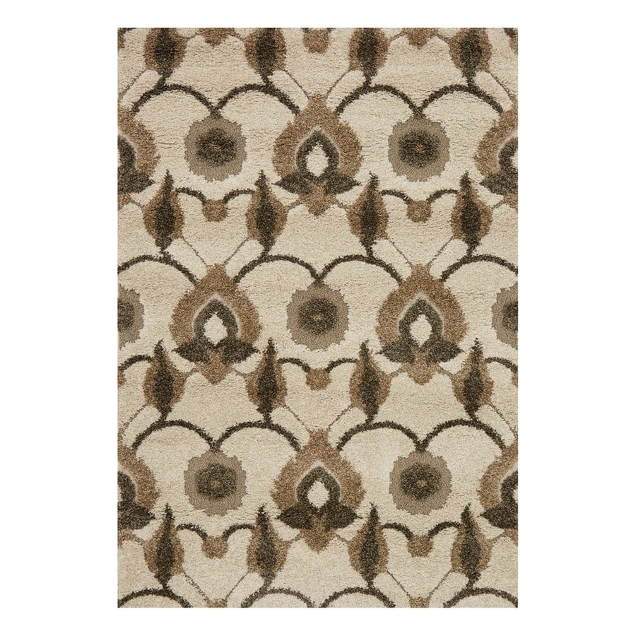 Loloi Enchant Ivory/Beige Square Indoor Machine-Made Area Rug (Common: 7 x 7; Actual: 7.58-ft W x 7.58-ft L)