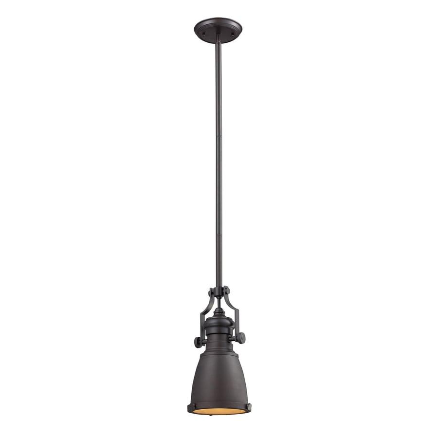 Westmore Lighting Chadwick 8-in Oiled Bronze Barn Mini Bell Pendant