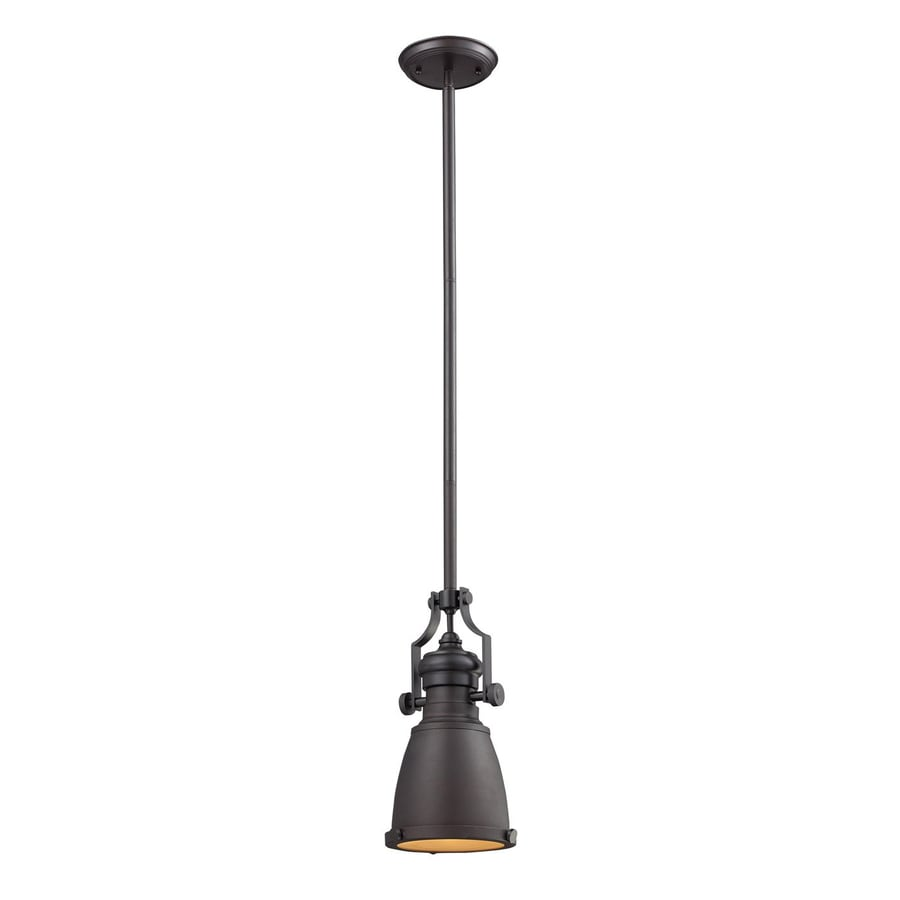 Westmore Lighting Chadwick 8-in Oiled Bronze Barn Mini Bell LED Pendant